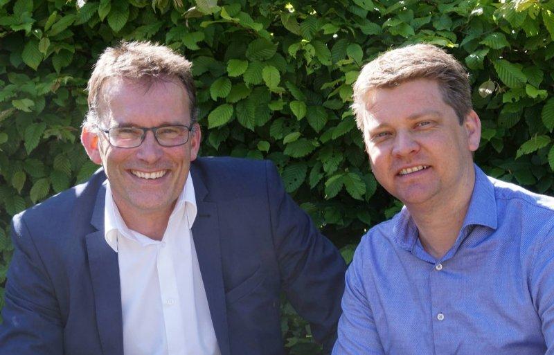 Projectleider Chris de Visser van de WUR en voorzitter Gijsbrecht Gunter van Uireka.