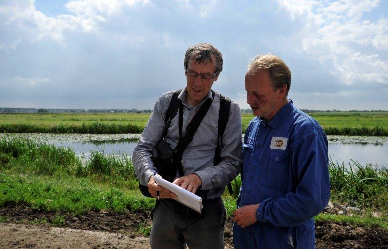 Met Leen Heemskerk van ANV De Utrechtse Venen.