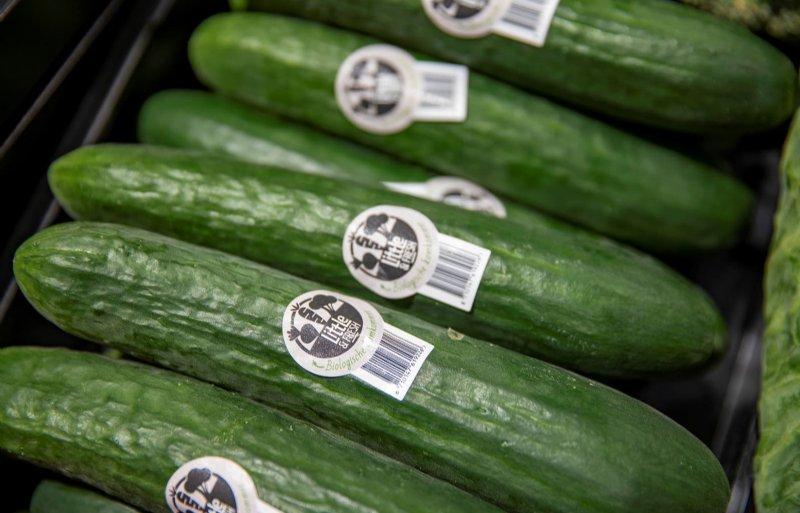 Kleine groentes gaan na de oogst zo snel mogelijk naar de supermarkt, waar ze onverpakt en met sticker te koop zijn.