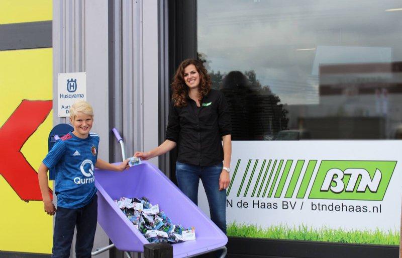 Agrarische groothandel BTN de Haas in Groningen is een van de bedrijven die meedoen aan de actie #doneerjetrekkertje