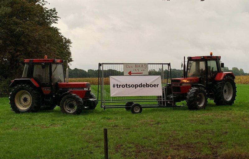 Stil boerenprotest langs de N65 ter hoogte van Helvoirt.