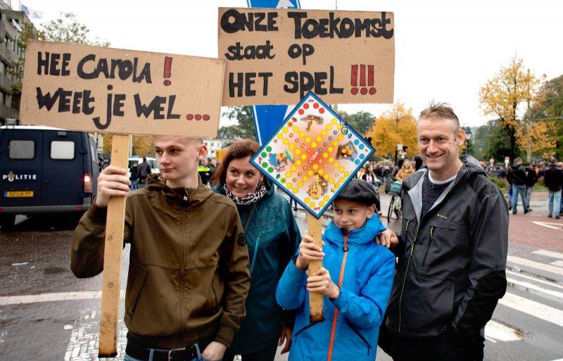 Dit boerengezin trok woensdag naar Den Haag om een statement te maken.