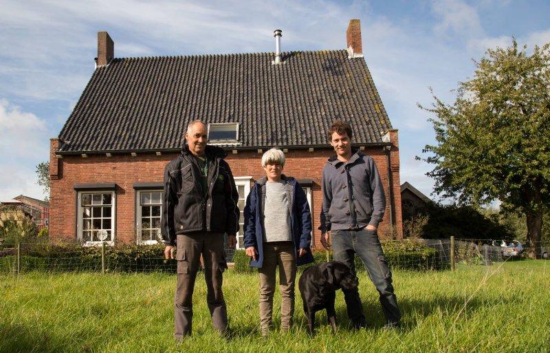 V.l.n.r.: Wim-Kees, Monique en Jelle Kloet, akkerbouwers in het buitengebied van Rilland.