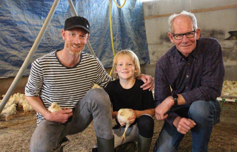 Drie generaties Groot: Pascal, Joep en Ger Groot.