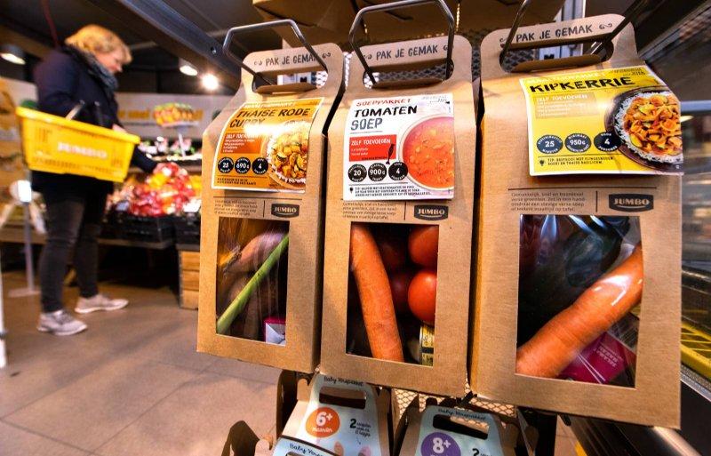 De bestedingen bij maaltijdpakketten zijn met 60 procent gestegen. Een op de drie huishoudens koopt deze dozen. Het gaat volgens marktonderzoeker Eric Harmens van GfK met name om huishoudens met kinderen en een hoog inkomen.