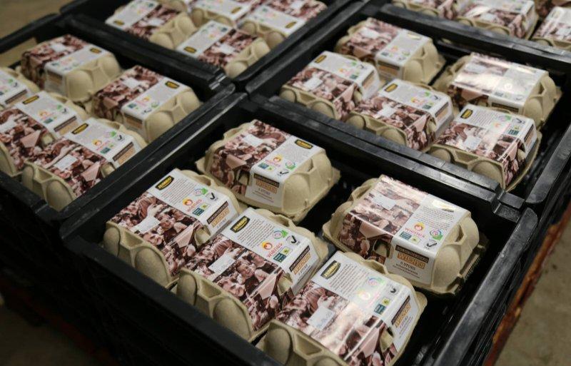 Het leeuwendeel van de eieren ligt onder private label in de schappen van de Jumbo-supermarkten.