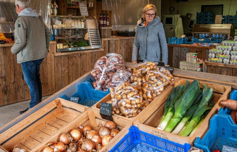 Sinds de verbouwing trekt de Landwinkel meer klanten.