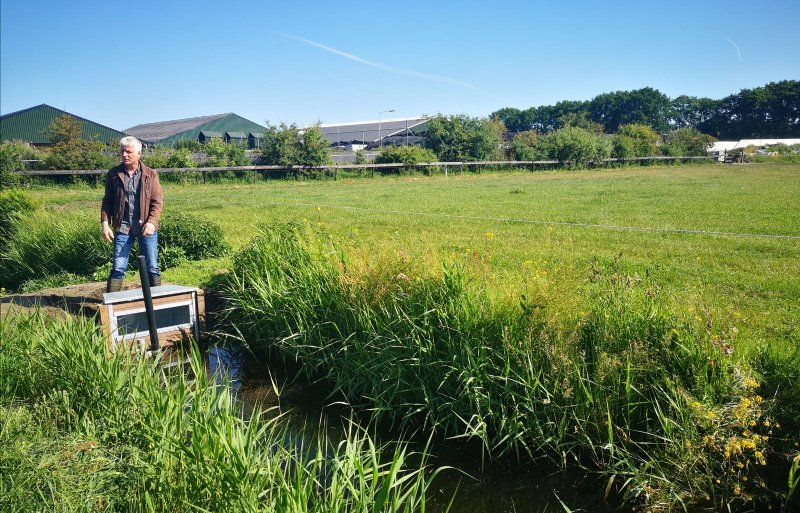 Anno Witteveen investeerde in stuwen en drains door het land om het grondwater op de arme zandgronden aan te vullen.