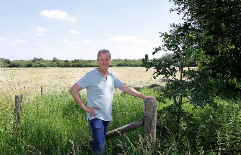 Melkveehouder John Verhoeven uit Liessel.