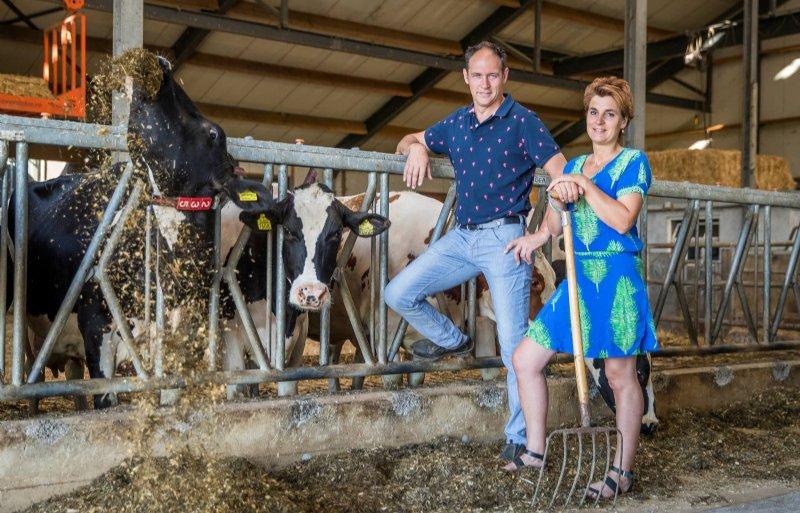 Wilfried en Judith van Dijck van melkveebedrijf Op Wis in Broekhuizenvorst.