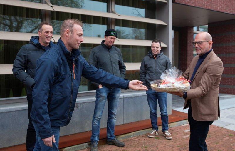 Boerenprotest in Loppersum tegen stikstofaanpak Groningen