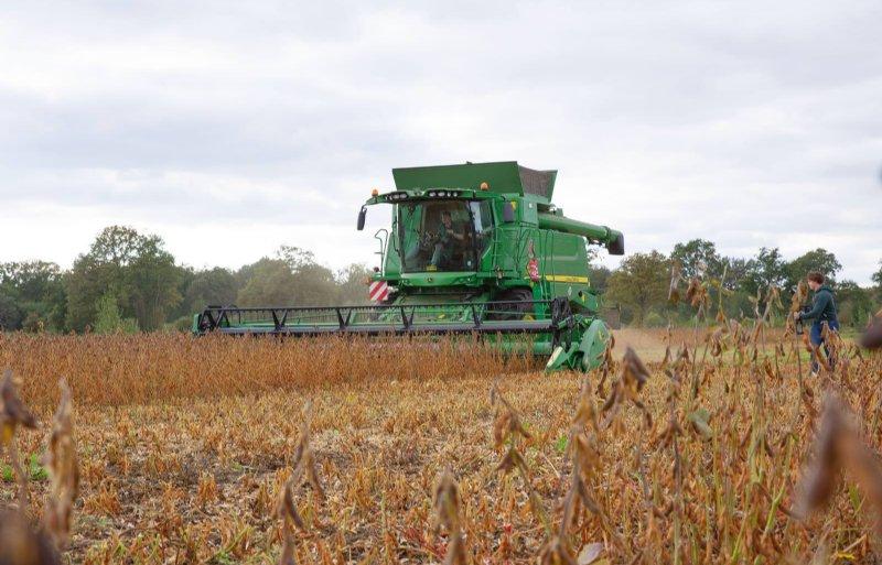 1 hectare sojabonen bracht ruim 3 ton bonen op.