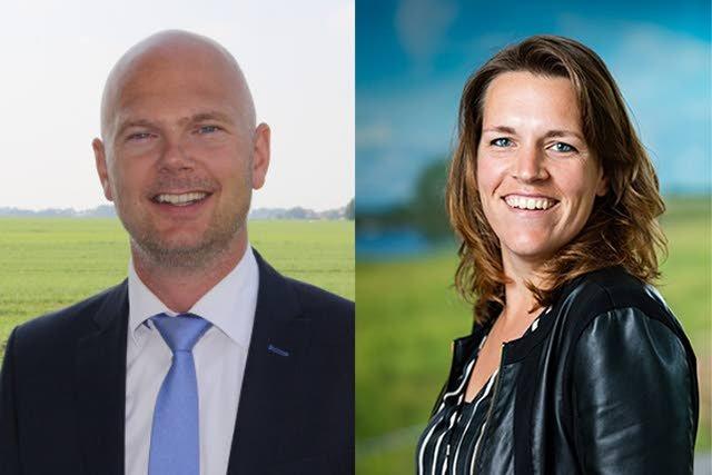 Lubbert van Dellen, commercieel directeur van Accon avm, en Sandra Rensen, productmanager Financieel bij AgroVision