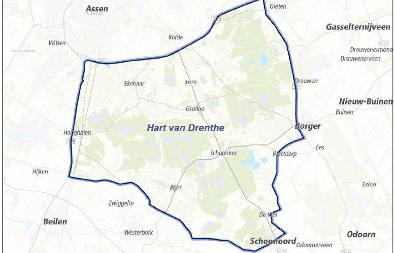 schapenkaart wolf in Drenthe