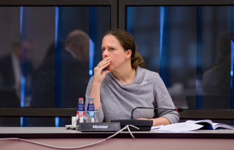 Demissionair landbouwminister Carola Schouten tijdens het NVWA-debat.