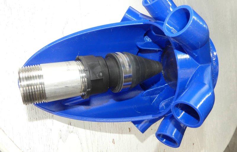 De kunststof Turbosplitter is lichter van gewicht en onderhoudsvrij.