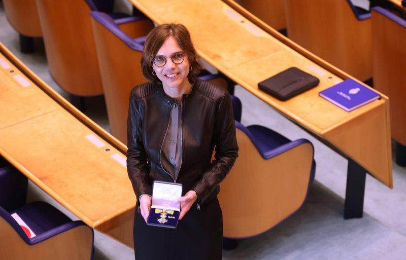 Carla Dik-Faber (CU) is bij haar afscheid van de Tweede Kamer benoemd tot Ridder in de Orde van Oranje-Nassau.