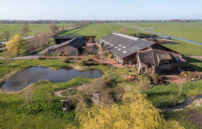 De boerderij van Kees en Maria van Gaalen in Noordeloos