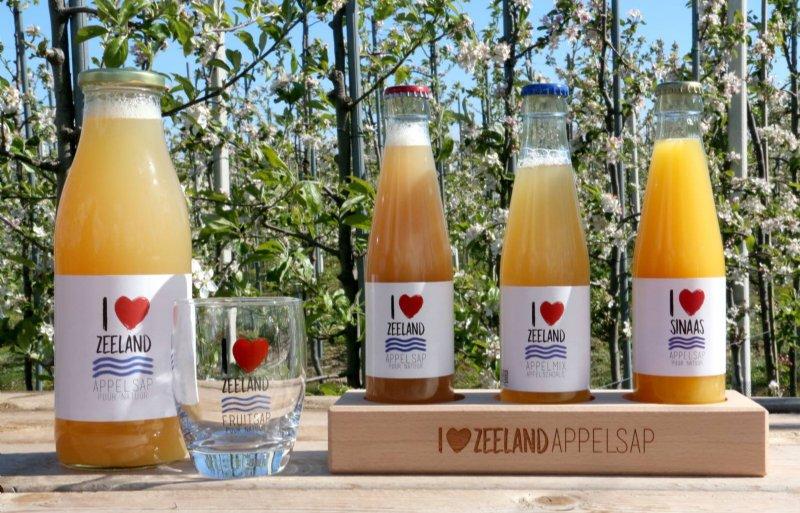 De fruitsappen van I love Zeeland op een rijtje.
