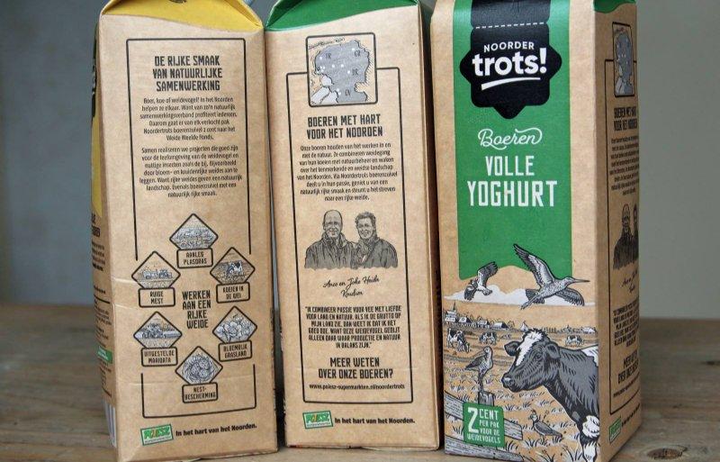 Het boerenechtpaar staat op de melkpakken afgebeeld.