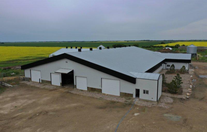 Melkveestal in Canada Saskatchewan, volledig geïsoleerd en geconditioneerd.