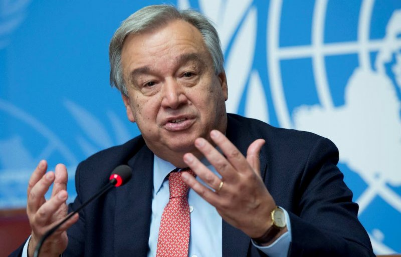 VN-secretaris-generaal António Guterres.