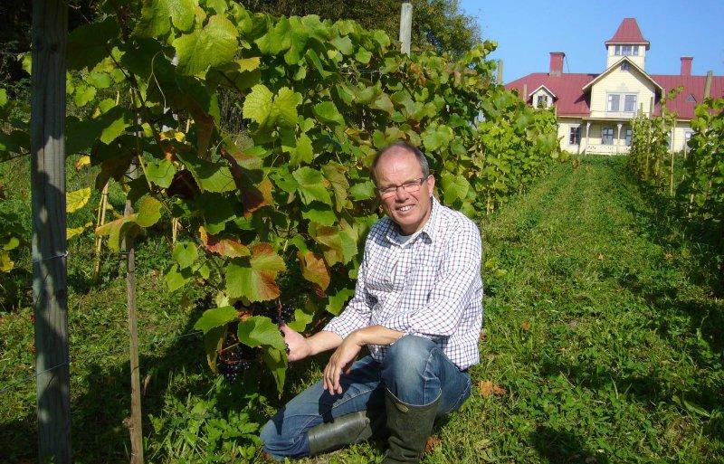 Staffan Ottosson, wijnboer in het zuiden van Zweden.