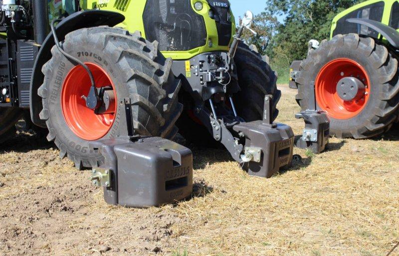 Wisselen van het frontgewicht kan een groot effect hebben op de tractie, bodemdruk en het verbruik.