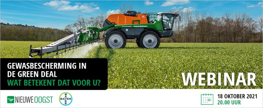 Webinar: Wat betekent de Europese Green Deal voor gewasbescherming?